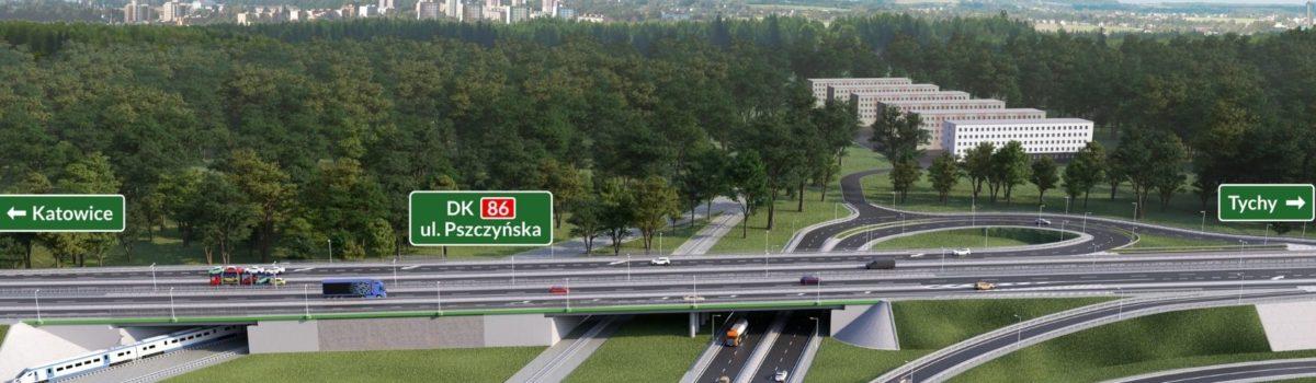 Otwarcie zjazdu z Drogi Krajowej nr 81 na Drogę Krajową nr 86 w Katowicach