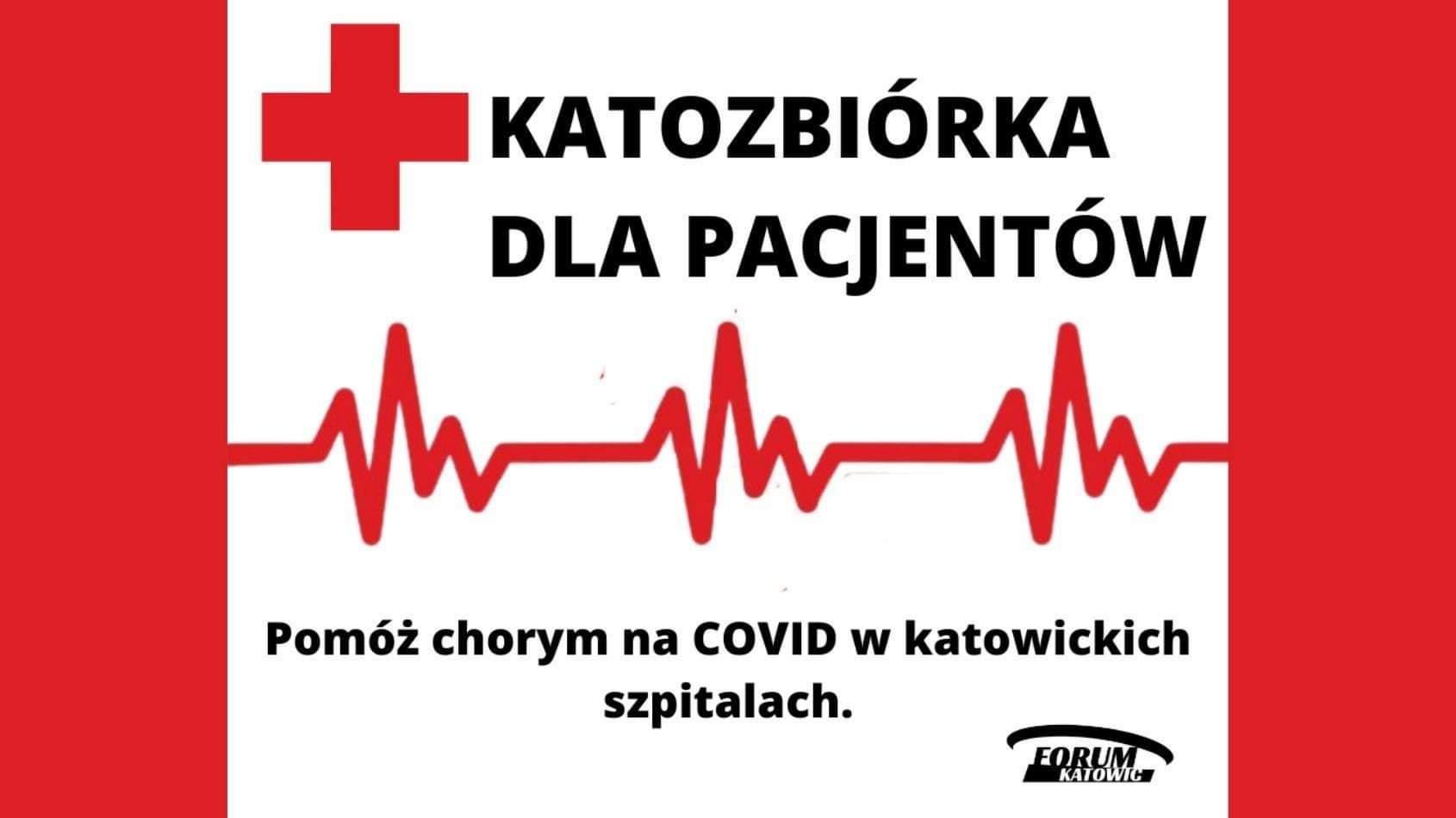 Katozbiórka dla pacjentów chorych na COVID w katowickich szpitalach
